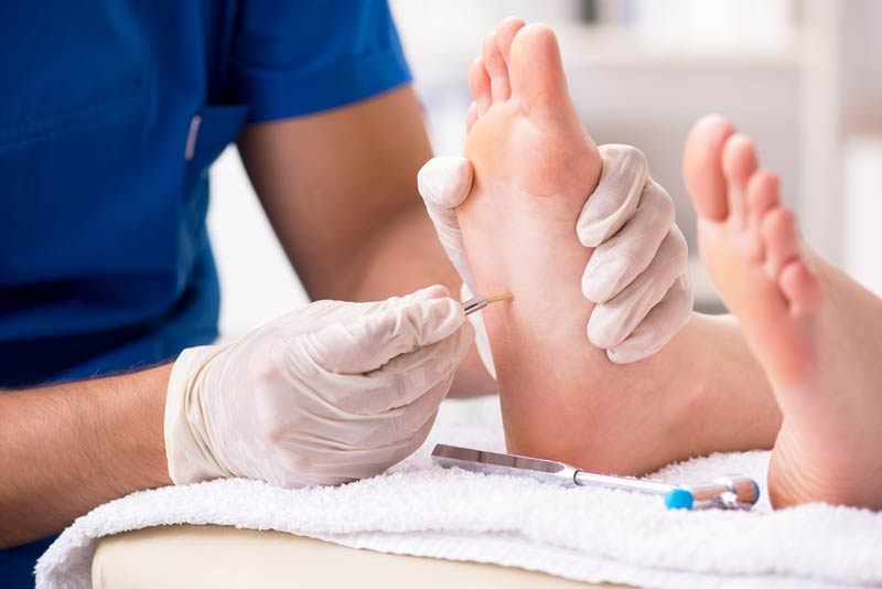 Foot pain relief treatment by a Podiatrist