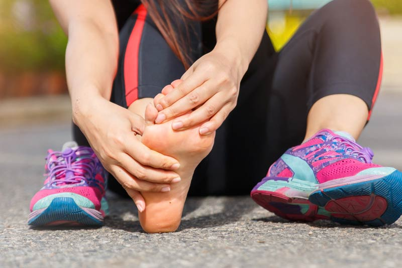 Athlete having sustained a sports injury