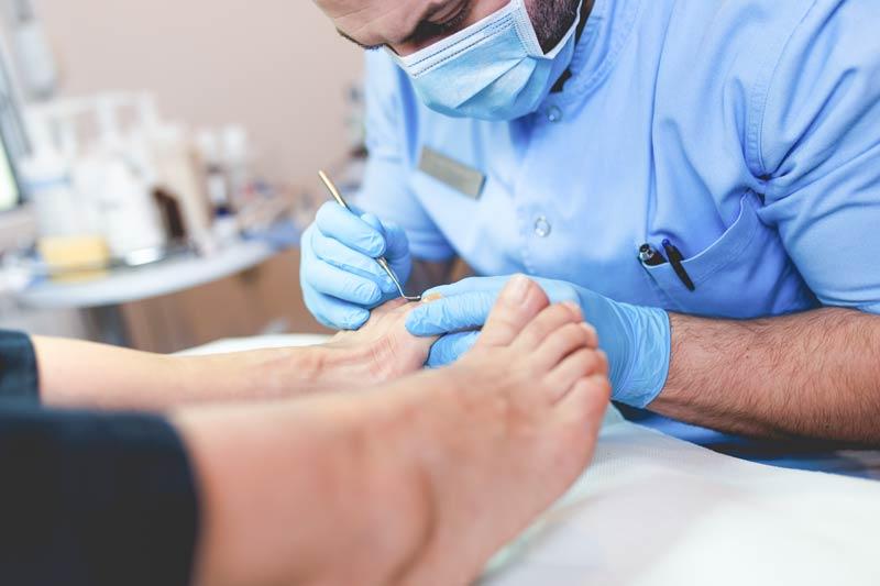 Ingrowing toenail being treated by Podiatrist